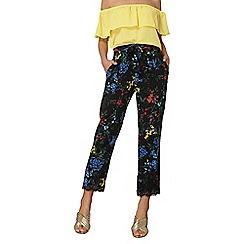 Dorothy Perkins - Black blossom lace hem trousers