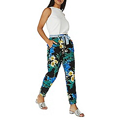 Dorothy Perkins - Multi black floral print trousers