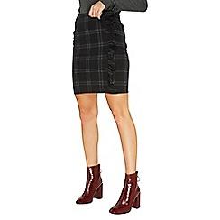 Dorothy Perkins - Green check ruffle mini skirt