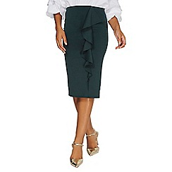 Dorothy Perkins - Green ruffle pencil skirt