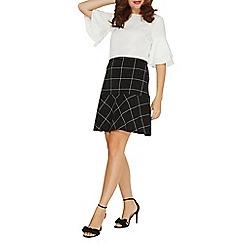 Dorothy Perkins - Black and white check mini skirt
