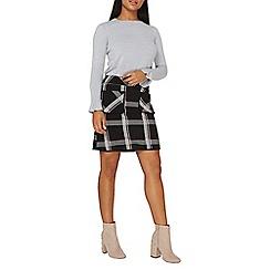 Dorothy Perkins - Black checked mini skirt
