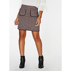 Dorothy Perkins - Red geometric print pocket mini skirt