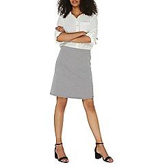 Dorothy Perkins - Black and white zig zag print mini skirt
