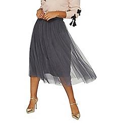 Dorothy Perkins - Grey tulle midi skirt