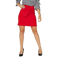 Dorothy Perkins - Red tie bow mini skirt