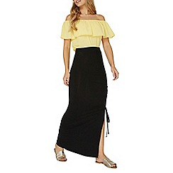 Dorothy Perkins - Black ruched maxi skirt
