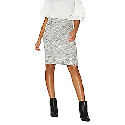 Dorothy Perkins - Cream zip pencil skirt