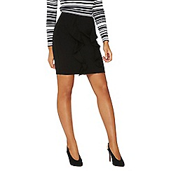 Dorothy Perkins - Black double ruffle mini skirt