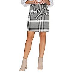 Dorothy Perkins - Check bow mini skirt