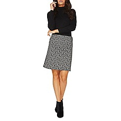 Dorothy Perkins - Monochrome chevron mini skirt