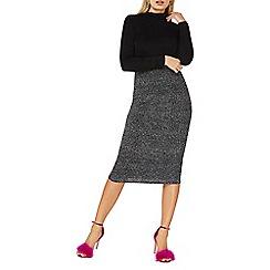 Dorothy Perkins - Black glitter pencil skirt