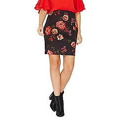 Dorothy Perkins - Multi coloured floral print scuba mini skirt