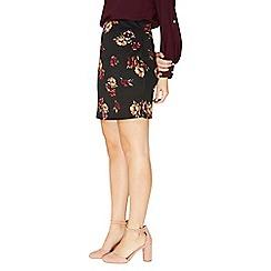 Dorothy Perkins - Chestnut floral print scuba mini skirt