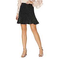 Dorothy Perkins - Shimmer pep hem mini skirt