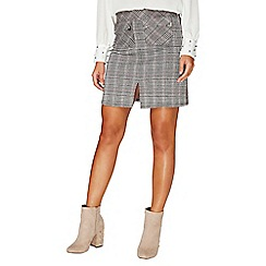 Dorothy Perkins - Multi coloured check jacquard mini skirt