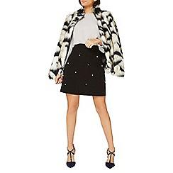 Dorothy Perkins - Black pearl embellished mini skirt