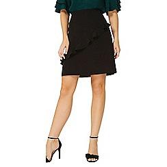 Dorothy Perkins - Black ruffle front mini skirt
