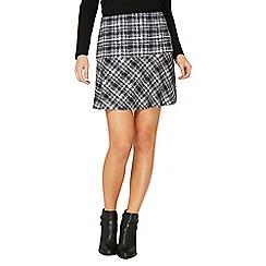 Dorothy Perkins - Black and white check print peplum mini skirt