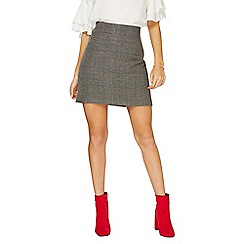 Dorothy Perkins - Grey checked print mini skirt