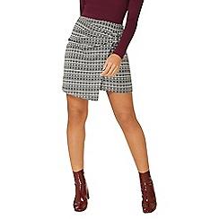 Dorothy Perkins - Grey dogtooth knot mini skirt