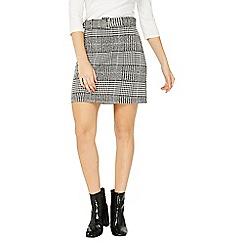 Dorothy Perkins - Check belted mini skirt