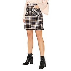 Dorothy Perkins - Yellow checked pocket mini skirt
