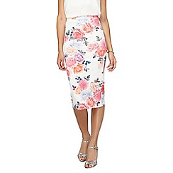 Dorothy Perkins - **tall pink floral pencil skirt