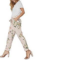 Dorothy Perkins - Blush floral tie trousers