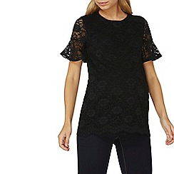 Dorothy Perkins - **maternity black lace flute sleeves top