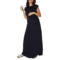 Dorothy Perkins - **maternity navy short sleeves maxi dress