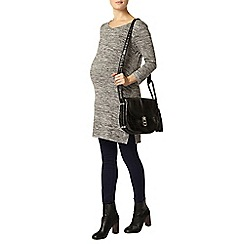 Dorothy Perkins - Maternity grey spacedye split side longline t-shirt