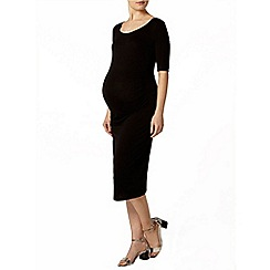 Dorothy Perkins - Maternity black ruched bodycon dress
