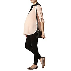 Dorothy Perkins - Maternity blush contrast roll sleeve top