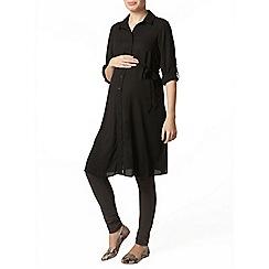 Dorothy Perkins - Maternity black shirt dress