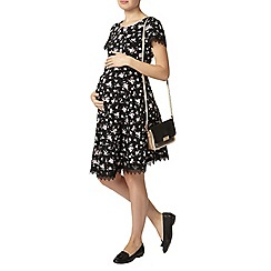 Dorothy Perkins - Maternity ditsy lace trim dress