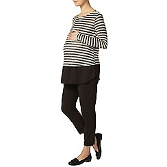 Dorothy Perkins - Maternity oatmeal stripe knit top