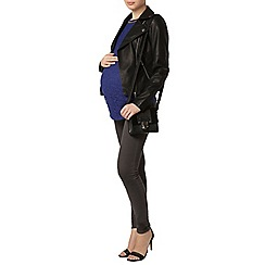 Dorothy Perkins - Maternity cobalt embellished lace shell top