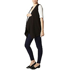 Dorothy Perkins - Maternity black sleeveless waterfall jacket