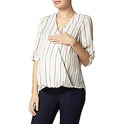 Dorothy Perkins - Maternity ivory stripe wrap blouse