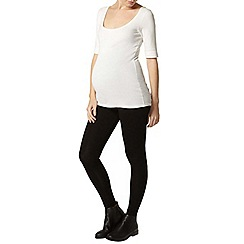 Dorothy Perkins - Maternity black overbump leggings