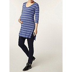 Dorothy Perkins - Maternity blue stripe v neck tunic
