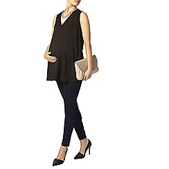 Dorothy Perkins - Maternity black eyelet side blouse