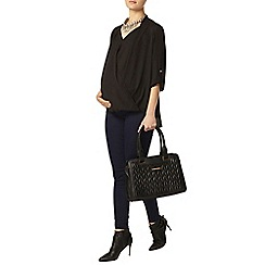 Dorothy Perkins - Maternity black wrap blouse