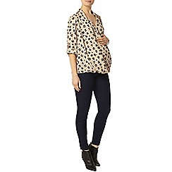 Dorothy Perkins - Maternity neutral animal print blouse