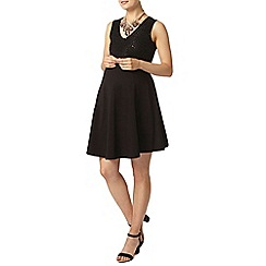 Dorothy Perkins - Maternity black sequin fit and flare dress