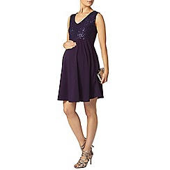 Dorothy Perkins - Maternity purple sequin fit and flare dress