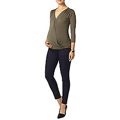 Dorothy Perkins - Maternity khaki jersey knit wrap top
