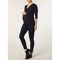 Dorothy Perkins - Maternity navy jersey knit wrap top