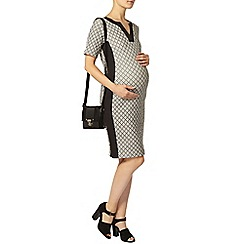 Dorothy Perkins - Maternity monochrome jacquard bodycon dress
